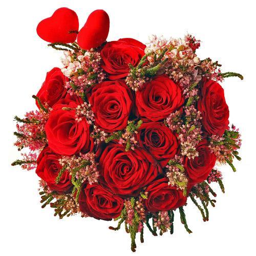 Bouquet Coração Apaixonado c/ Rosa
