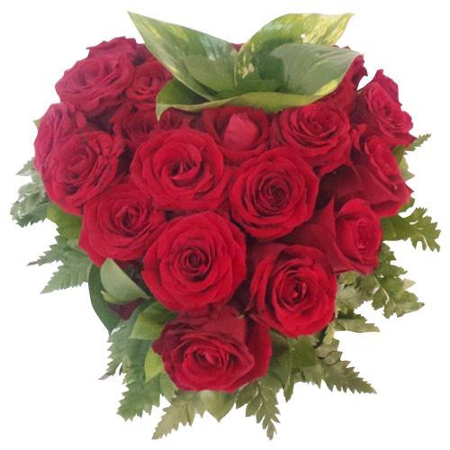 Coração de Rosas Vermelhas Apaixonado