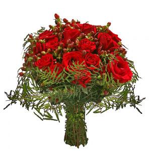 Bouquet de Rosas Encarnadas