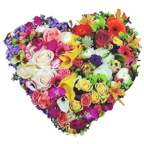 Coração Multicolor