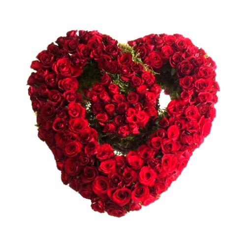 Coração de Rosas Entrelaçado
