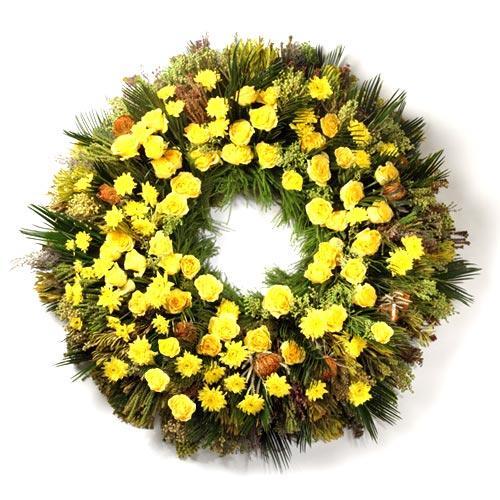 Coroa Funeral Rosas Amarelas