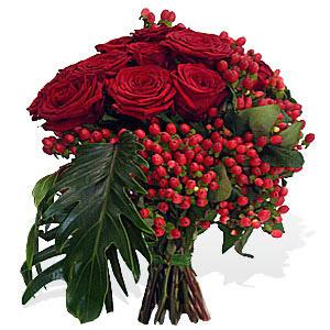 Bouquet de Rosas Encarnadas Premium