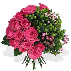 Bouquet de Rosas Fuchsia Premium