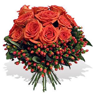 Bouquet de Rosas Laranja Premium
