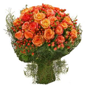 Bouquet de Rosas Laranja
