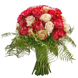 Bouquet de Rosas Rosa em Vários Tons