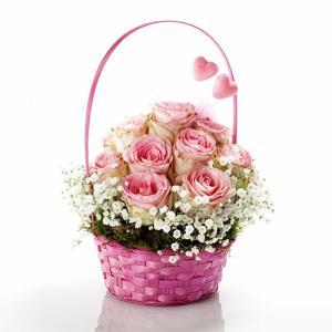 Cesto Amor Meu em Rosa