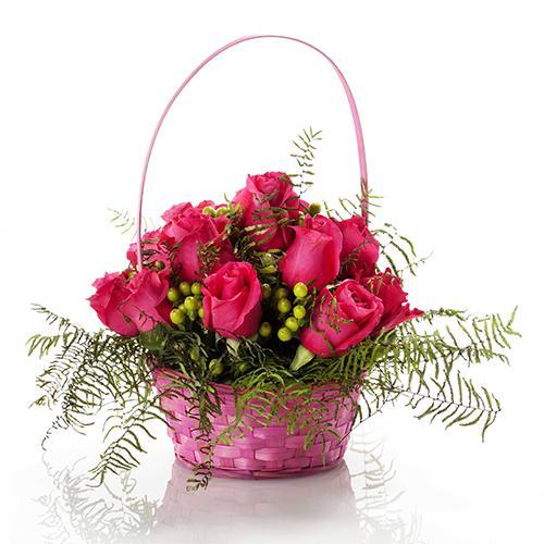 Cesto Amor Meu em Rosa Fuchsia