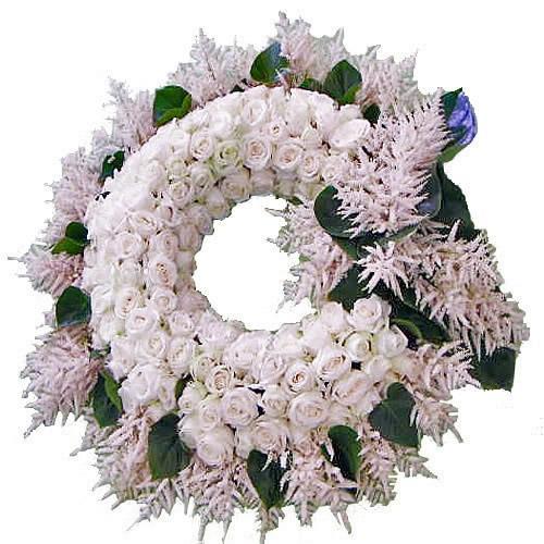 Coroa de Rosas Brancas