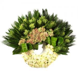 Coroa Funeral Rosas Brancas Premium