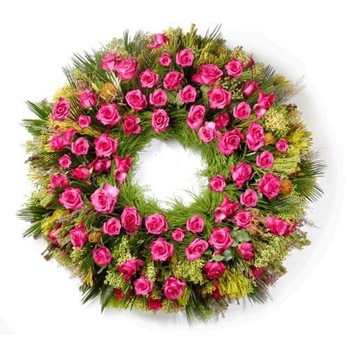 Coroa Funeral Rosas Escuro