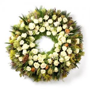 Coroa Funeral  Rosas  Brancas
