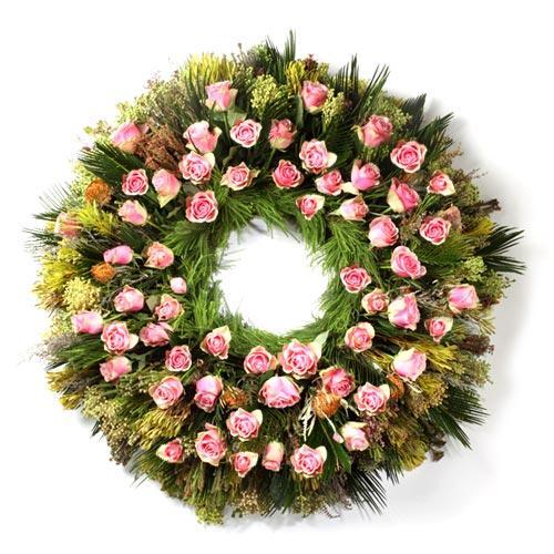 Coroa Funeral Rosa Claro