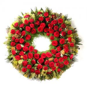 Coroa Funeral Rosas Vermelhas