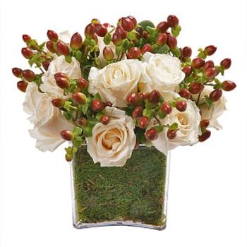 Cubo de Rosas Marfim