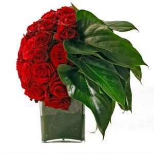 Jarra Meia Bola Rosas Passion