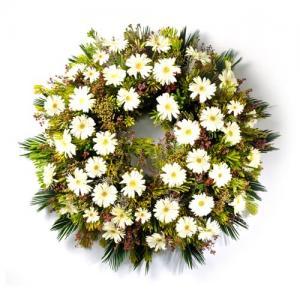 Coroa de Funeral com Margaridas Brancas