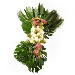 Palma Funeral com Crisântemos